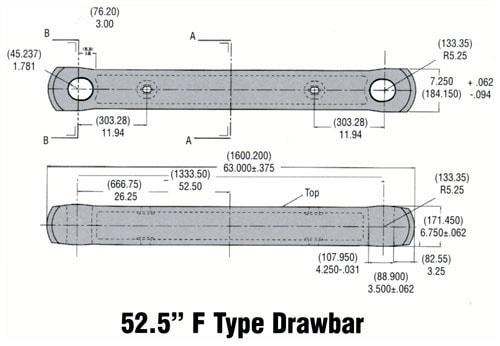 """52.5"""" F Type Drawbar"""
