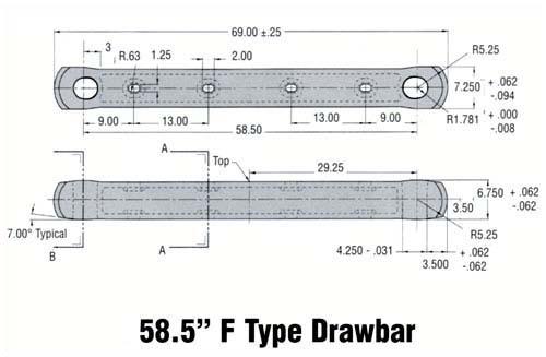 """58.5"""" F Type Drawbar"""